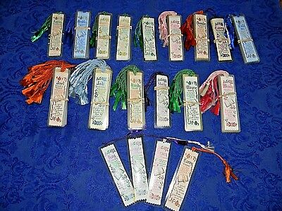 HUGE LOT CHRISTIAN NAME RELIGIOUS BOOKMARKS OVER 175 PIECES ALL NEW w TASSLES !