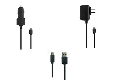 Car Wall Home AC Charger 5ft USB Cable for Samsung Tab 3 10.1 GT-P5210 Tablet