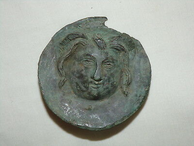 Ancient Greek Chest Plate Medallion Armour Antique Old