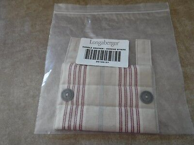 Longaberger Handle Gripper Awning Stripe with buttons 20145137