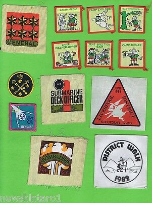 #D417.  OVER 20 CLOTH PATCHES etc, MOSTLY SCOUT RELATED
