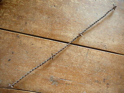 Scutts Large Cast Iron H-Plate Thick Center Plate  - Antique Barbed Barb Wire