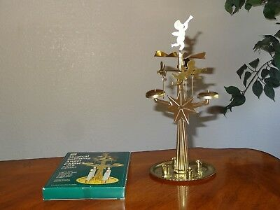 Magical Spinning Angel Chimes Christmas Retro Tabletop Centerpiece No candles
