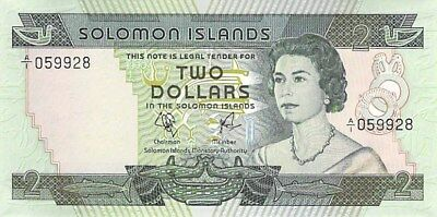 Solomon Islands $2 $5 $10 Notes 1977 Cu Matching Serial Numbers P-5 P-6 P-7