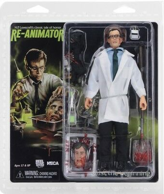 """NECA Re-Animator 8"""" Clothed Herbert West Action Figure NEW AUTHENTIC IN STOCK"""