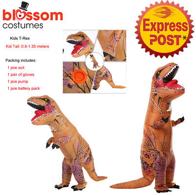K632 Inflatable Dinosaur Costume Child Jurassic World Park Trex T-Rex T rex Blow