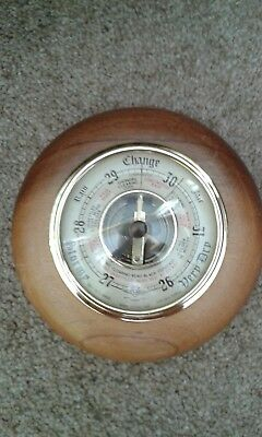 Barometer Shortland British Made Instruments Vintage Quality Weather Guide Vgc