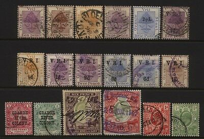 Orange River Colony Collection 18 Stamps Used