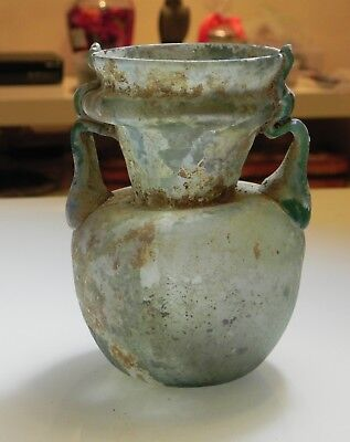 Zurqieh -As6554- Holy Land. Ancient Roman Glass Vessel. 200 - 300 A.d