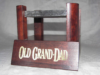 Old Grand Dad Bourbon Whiskey - 1x Podest/Präsentier-Ständer- Holz / Stein