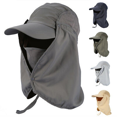 Legionnaire Hat Cap Sun UV Protection Neck Flap Ear Face Cover Long Hat Fold Up