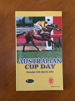 2002 Australian Cup Race book Old Comrade beats Northerly