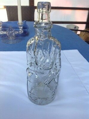 Early 1900's POLAND SPRING Figural MOSES MINERAL WATER BOTTLE (Maine)  NR!