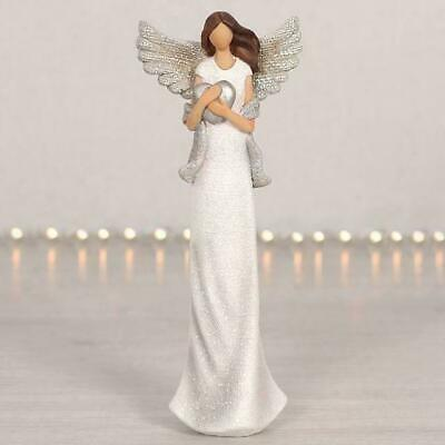 Beautiful ANGEL HOLDING HEART Guardian Angel With WINGS Statue Figurine Ornament