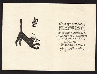 29)Nr.123 - EXLIBRIS - PF Richard Rother - Katze / cat