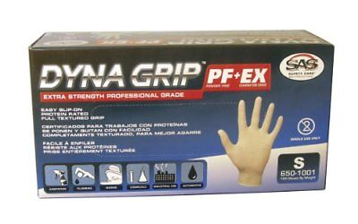 Sas Safety Corp 650-1001 Dyna Grip Small Textured Latex Gloves (6501001)