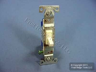 Cooper Lt Almond Quiet Toggle Wall Light Switch Single Pole 15A Bulk 1301-7LA