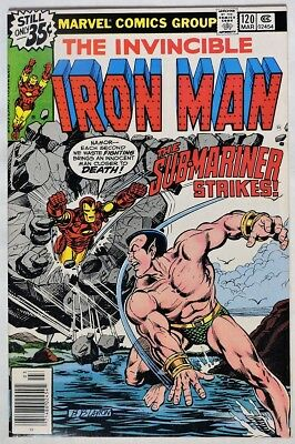 S974. IRON MAN #120 by Marvel 7.0 FN/VF (1979) 1st App. of JUSTIN HAMMER `