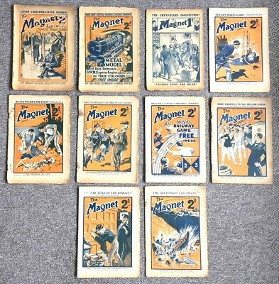 "14 Early Issues Of ""the Magnet"" Comic, 1917-1927"