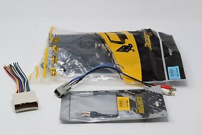 asc audio car stereo radio install dash kit, wire harness, and antenna  adapter t