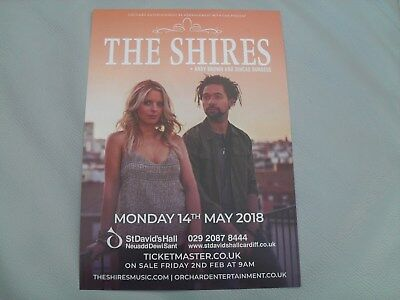 THE SHIRES - lovely colour tour flyer (Mint) ANDY BROWN, SINEAD BURGESS