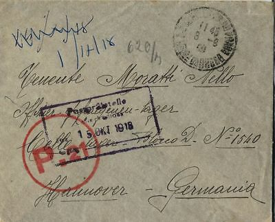 WWI PRIGIONIERI POW CAMP CELLELAGER GERMANIA 1918 da REGGIO EMILIA VIA FRANCIA