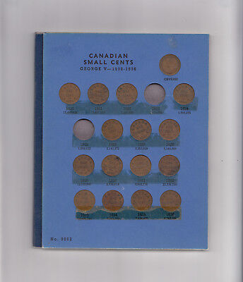 1920-63 Canada 1 Cent Coin Collection 43 In Album
