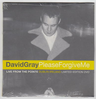 DAVID GRAY: Please Forgive Me: Live Pointe Dublin Ireland Limited DVD NEW SEALED