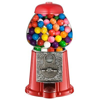 11 Inch Vintage Gumball Machine Bank Metal Base Glass Globe Toy Bank Table Top