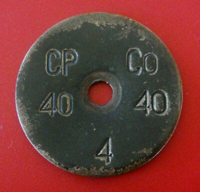 Antique Brass Tag: CONSUMERS POWER CO; Southeast Michigan