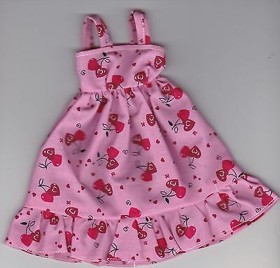 Doll Clothes-Pretty Red Hearts Print Sundress fits Barbie-Homemade SD5