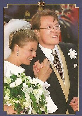 PRINZESSIN LAURENTIEN-PRINZ CONSTANTIJN-Oranje-ROYAL WEDDING-ORIGINAL POSTCARD