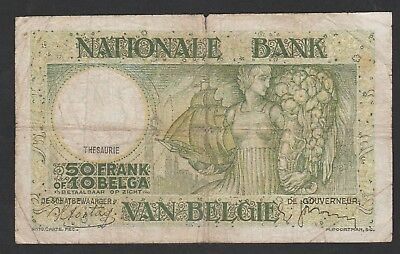 50 Francs From Belgium 1938
