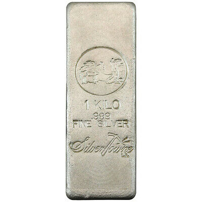 ON SALE! 1 Kilo SilverTowne Poured Silver Bar (New)