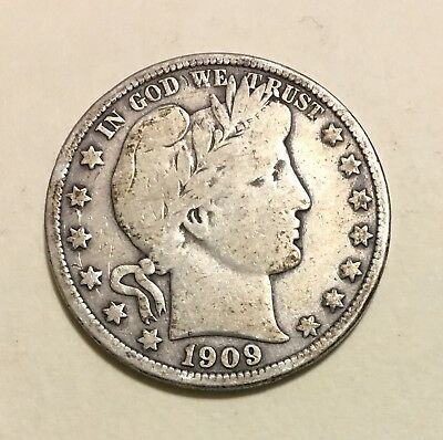 1909 Barber Half Dollar, Tough Date, FINE Condition