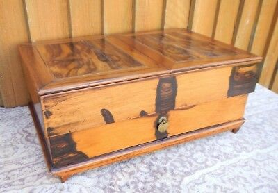 Antique Olivewood Work ~Sewing Box With Drawer ~For Restoration