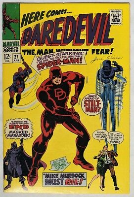 S999. DAREDEVIL #27 by Marvel Comics 7.0 FN/VF (1967) SPIDER-MAN Crossover `