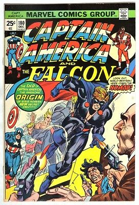 S997. CAPTAIN AMERICA #180 by Marvel 4.0 VG (1974) 1st Appearance of NOMAD `
