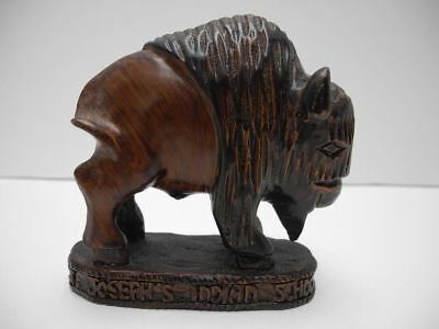 Vintage St. Joseph's Indian School SD Bison Paperweight Figurine Buffalo