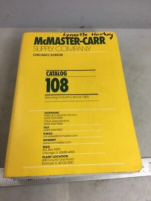 MCMASTER-CARR CATALOG, #108, 2002, Great Reference Book!