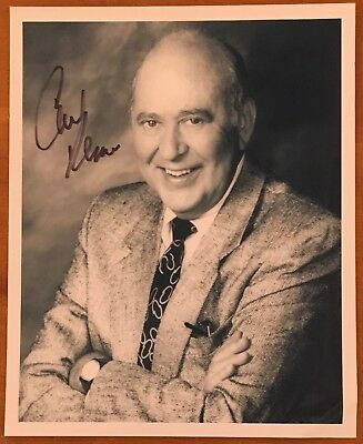 """CARL REINER,100% AUTHENTIC AUTOGRAPHED 8"""" x 10"""" PHOTO,ACTING LEGEND,96 YR OLD"""