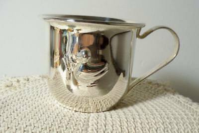 Vintage Silverplate Baby Cup~Duck/Duckling On One Side~Unknown Maker