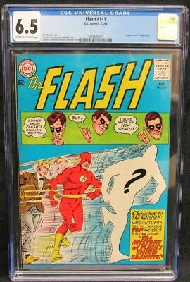 Flash #141 (1963) 1st Appearance Paul Gambi Early Silver Age CGC 6.5 K540