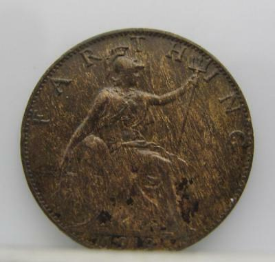 Great Britain 1919 Farthing! Minty! Km# 808.2! Really Nice Old Type Coin! Look!