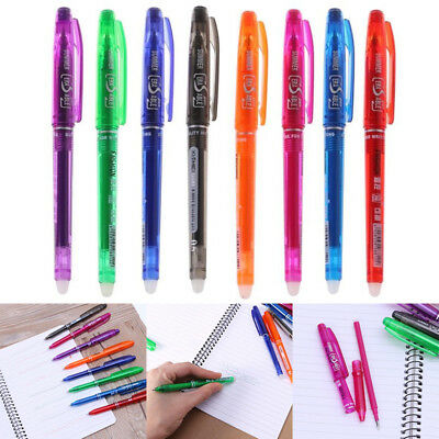 Erasable Pen Gel Ink Pen 8 Color 0.5mm Learning Essential School Office Supply