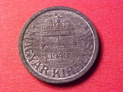 Hungary 2 Filler Zinc 1943-Bp Choice Unc Nice