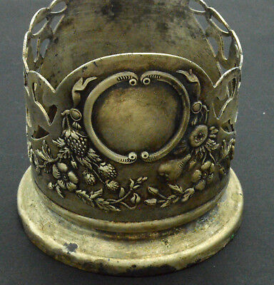 Antiquarian German Silver Stand under the glass. 20 Century 122gr
