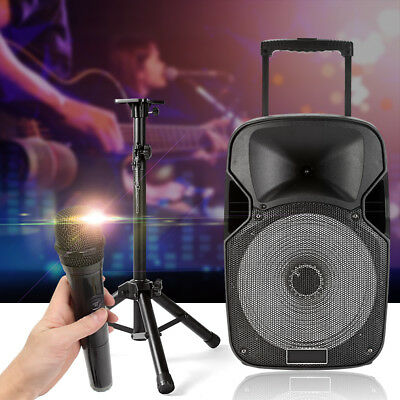 12'' Portable Bluetooth DJ Speaker PA System Power Amplifier TF USB AUX input AU