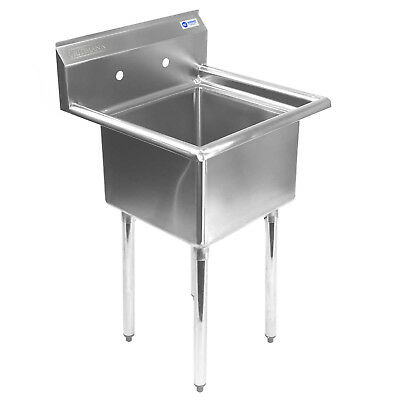 "OPEN BOX - Commercial Stainless Steel Kitchen Utility Sink - 23.5"" Wide"