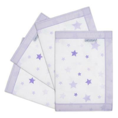Airwrap Mesh Cot Protector - 4 Sided (Lavender Stars) Crib/Cot/Cotbed Bumper